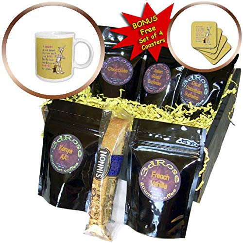 3dRose Russ Billington Designs- Wonderful Wizard of Oz - Tin Man and Toto- A Heart is Judged By How Much You Are Loved - Coffee Gift Baskets - Coffee Gift Basket (cgb_302297_1) -