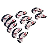 Dovewill Golf Head Cover Club Iron Putter Head Protector Neoprene - Set of 10