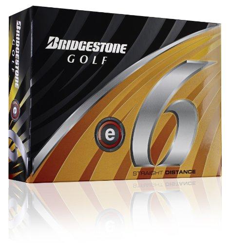Bridgestone E6 White Golf Balls, 1 Dozen (2011 Model), Outdoor Stuffs