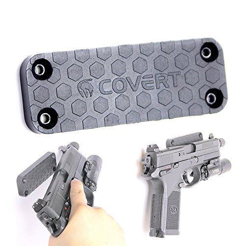 Magnetic Gun Mount : Concealed Gun Magnet Holster For Vehicle and Home - 43 Lbs Rated - Anti Scratch Surface - Perfectly Ambidextrous - Discrete Gun Magnet For Pistols, Rifles and Shotguns