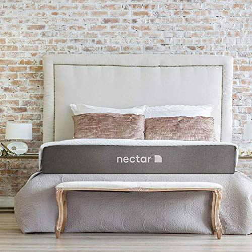 Nectar Queen Mattress + 2 Free Pillows - Gel Memory Foam - CertiPUR-US...