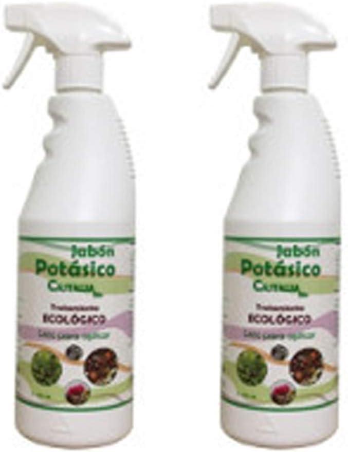 Castalia - Jabón Potásico Ecológico en Spray - Pack de 1,5 l Total - Fertilizante e Insecticida de Alta Eficacia contra Mosca Blanca, Araña Roja, Cochinilla y Pulgón - No tóxico y Biodegradable