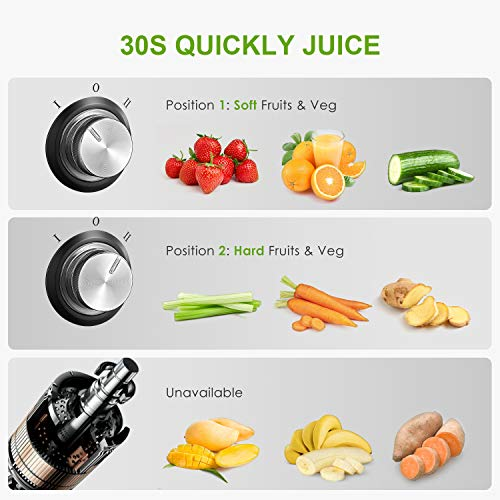 Juicer Machine, Aicok Easy Clean Juice Extractor, 800W Centrifugal Juicer with 3'' Wide Mouth, Dual Speed Stainless Steel Juicer with Anti-drip Mouth, Non-slip feet, BPA Free by AICOK (Image #4)