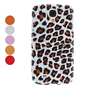 CL - Leopardo estuche rígido de impresión para Samsung Galaxy S4 i9500 (colores surtidos) , Rojo