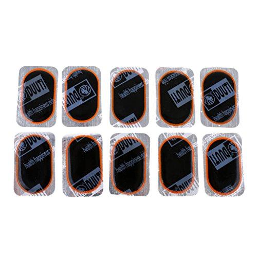 MagiDeal 10pcs Rustine Caoutchouc Anti Crevaison Correctifs de Pneu Vélo Bicyclette Tube Intérieur Ultra Mince