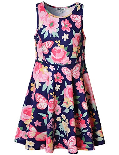Little Girls Dresses Floral Butterfly Spring Summer Party Beach Holiday Clothes -