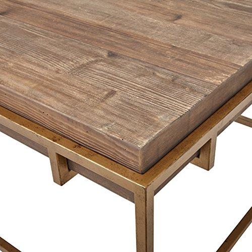 "Bronze Industrial Coffee Table: Stone & Beam Sparrow Industrial Coffee Table, 55.1""W, Wood"