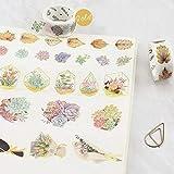 KathShop Succulent Garlands Foil Foil Kawaii Washi
