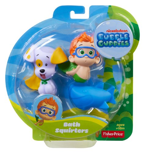 Fisher-Price Bubble Guppies, Bath Squirters: Nonny, Bubble Puppy and Shark by Fisher-Price (Image #1)