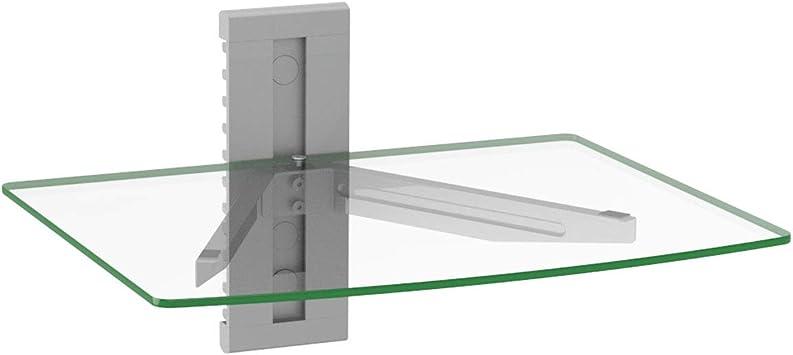 """Floating Wall Mount AV ShelfSingle Floating Strengthened Tempered Glass 15/""""x11/"""""""
