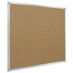 Mead Classic Cork Bulletin Board, 3 x 2 Feet, Aluminum Frame (85361)