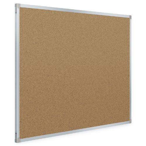 Mead Classic Cork Bulletin Board, 4 x 3 Feet, Aluminum Frame (85362)