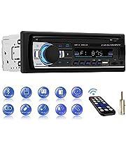 Autoradio Bluetooth, CENXINY Manos Libres de Radio Coche, Receptor Estéreo de Coche USB Dual Incorporado, Bluetooth 4.2, FM, AUX y Ranura para Tarjeta SD