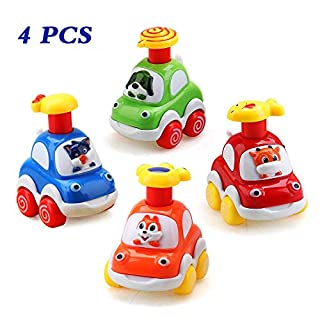 Baby Toy Cars for 1 Year Old Toddler Birthday Gift Toys Cartoon Wind up Cars for 2 Year Old Boys