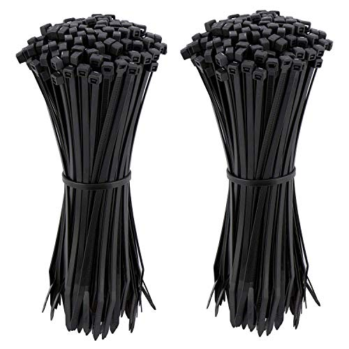 (Cable Zip Ties 4 Inch, Ultra Strong Plastic Wire Ties, 200 Pieces, Nylon Tie Wraps with 0.14 Inch Width, Indoor and Outdoor UV Resistant by)