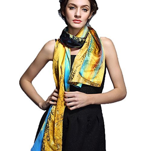 Spring&Autumn&Summer Genuine Silk Scarf Mulberry Silk Scarf Super Long Scarf New Arrival Free-Shipping by YSW