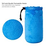 ESDDI Lens Case Lens Pouch Thick Protective Camera Bag Inside with Blue Soft Plush Neoprene Bags for DSLR(Canon, Nikon, Pentax, Sony, etc. 4-Pack)