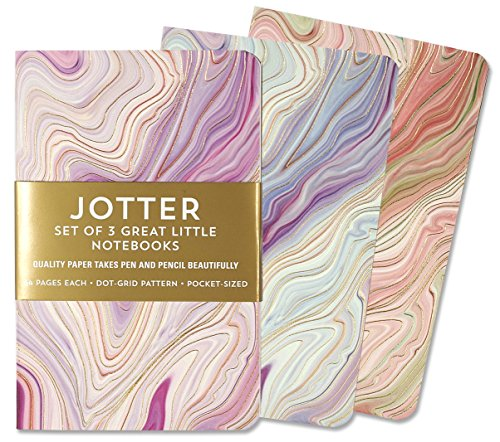 Jotter Mini Notebooks for Bullet Journaling -- Agate (3-Pack) (Interior Dot-Grid Pattern) Paperback – May 23, 2017