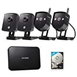 Zmodo Replay 4CH 720P 1TB Wireless Home Surveillance Security Camera System - 2 Outdoor & 2 Indoor IP Network Camera 4 Channel NVR 1TB Hard Drive Cloud Storage
