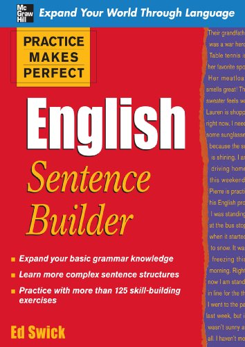 Practice Makes Perfect English Sentence Builder (Practice Makes Perfect Series)