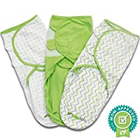 Ziggy Baby Swaddle Blanket Wrap Set Chevron, Dot, Solid, Grey/Green/White, 3 ...