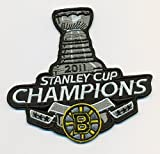 Boston Bruins 2011 Stanley Cup Champs Hockey NHL Embroidered Iron On Patches Hat Jersey 4 1/4 x 4""
