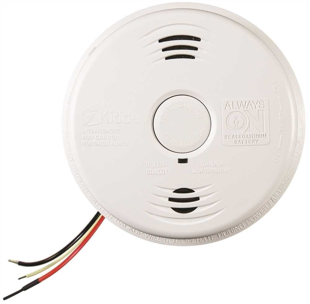 Kidde Worry Free Ac Wire In Smoke And Carbon Monoxide Alarm 5 1 2 Ionization Detector Ic 120 Volts 85 Db Ea