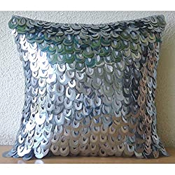 3D Metallic Sequins Fish Scales Pillows Cover