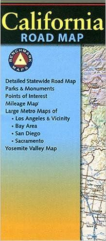 California Road Map Benchmark Maps 9780783498454 Amazon Com Books