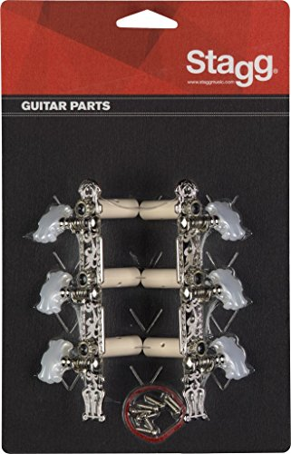 Stagg KG356 Lyra Classical Guitar Machine Heads, Chrome