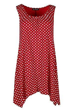 Kleid gepunktet rot