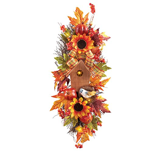 Fall Birdhouse Swag