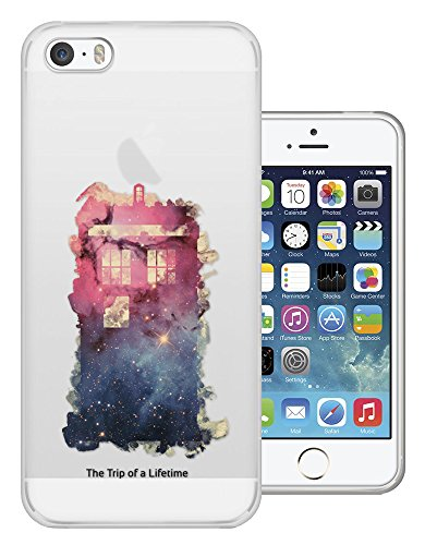 C0739 - Out Of This World Universe Doctor Who Police Box Tardis Pink And Blue Design iphone SE - 2016 Fashion Trend Silikon Hülle Schutzhülle Schutzcase Gel Rubber Silicone Hülle