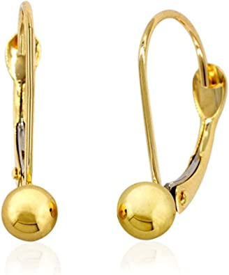 10kt Yellow Gold Rose Polished Dangle Earrings