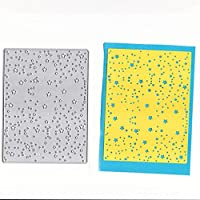 Hukai Star Background Metal Cutting Dies Stencil DIY Scrapbooking Album Stamp Paper Card Embossing Crafts Decor,Good Gift for Your Kids to Cultivate Their Hands-on Ability