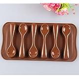Spoon Shape Silicone Cake Mold Chocolate Fondant Tools Decoration Bakeware Cupcake Baking Molds