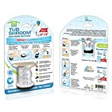 TubShroom Chrome Edition Revolutionary Tub Drain Protector Hair Catcher, Strainer, Snare,
