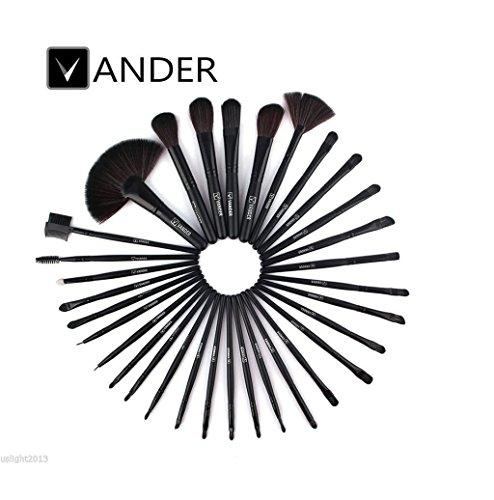 VANDER 32 Pcs Makeup Brushes Set Kits (Black) - 2