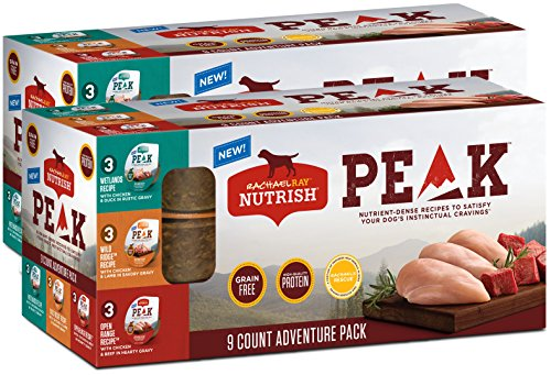 Rachael Ray Nutrish Peak Natural Wet Dog Food Variety Pack, Grain Free Adventure Pack, 3.5 Oz. Tub (Pack Of 18)