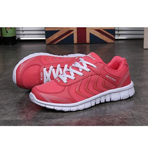 da Donna Sportive Coppia Sneakers Maglia Rosso Running Casual Unisex Uomo Gym Moda All'aperto Scarpe Scarpe Ginnastica Scarpe da C Traspirante Fitness Www6x10qv