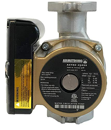 Armstrong 110223-308 1/20 Horsepower Astro 250SS Wet Rotor Circulator, Stainless Steel