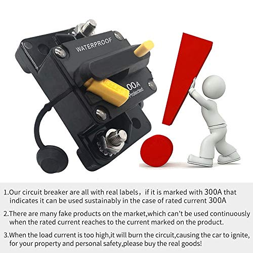 300 Amp Circuit Breaker 20A-300A Manual Reset Waterproof Inline Fuse Inverter