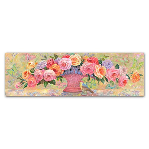 Basket of Roses by Susan Rios, 8x24-Inch Canvas Wall Art