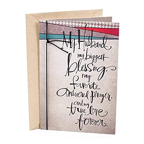 Hallmark Mahogany Religious Birthday Greeting Card for Husband (Lettering) - Lords Prayer Craft