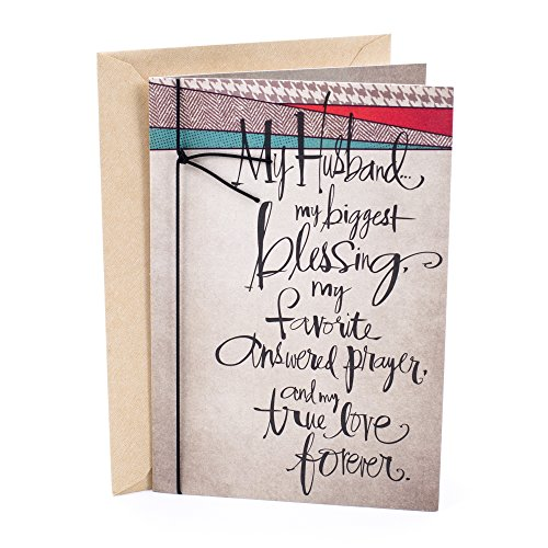 Hallmark Mahogany Birthday Greeting Card for Husband (Lettering Pattern)