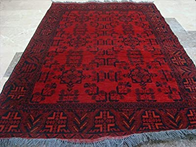 AHMEDANI Exclusive Afghan Khal Muhamadi Designed Rectangle Area Rug Hand Knotted Wool Carpet (6.1 x 4.3)'