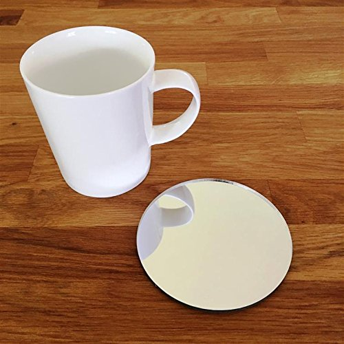 Laserables 4 x Round Wine Glass Coffee or Tea Cup Mirror Coaster Place Mat Hand Bag Mirror