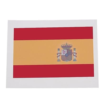 ANSELF - Pegantina de Bandera de España 10Pcs - Tatuaje Temporal ...