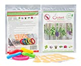 Natural Mosquito and Tick Repellent Combo Pack. 30 PATCHES and 5 BRACELETS DEET-Free. Made with all Natural Essential Oils Great for Pregnant Women Kids Babies and Adults 100% GUARANTEE