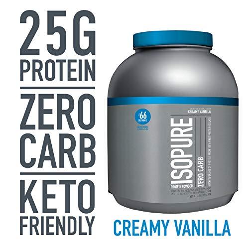 Isopure Zero Carb, Keto Friendly Protein Powder, 100% Whey Protein Isolate, Flavor: Creamy Vanilla, 4.5 Pounds